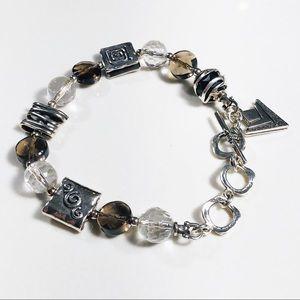 SILPADA Silver, Smoky Quartz & Crystal Bracelet